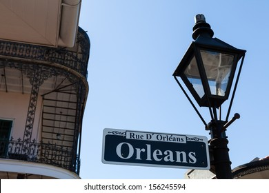 Orleans street sign in the French Quarter in New Orleans, Louisiana.