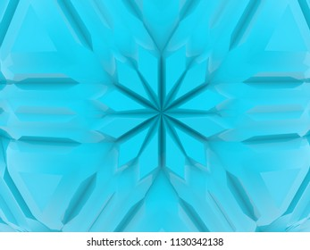 Ornament in blue color.3d illustration