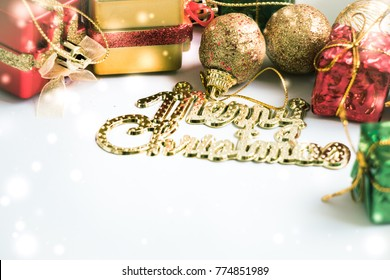 Ornament and Christmas items decorate for the holy night. Merry xmas and happy new year night light.
