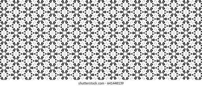 Ornament with elements of black and white colors. P