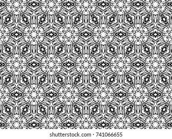 Ornament with elements of black and white colors. l