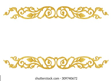 Ornament elements frame, vintage gold floral designs
