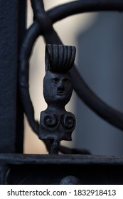 A ornament on a gate at the Lake Constanz