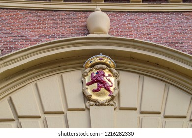 Ornament On Top Of The Gate At The Binnenhof Den Haag The Netherlands 2018