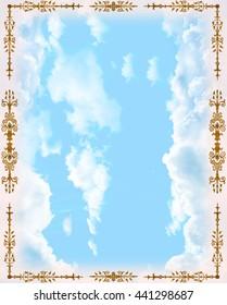 the ornamental ceiling