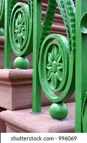 Ornamental ironwork in Charleston South Carolina USA
