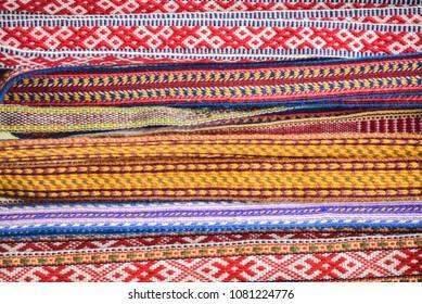 Ornamental  Latvian belts - National symbols of Latvia