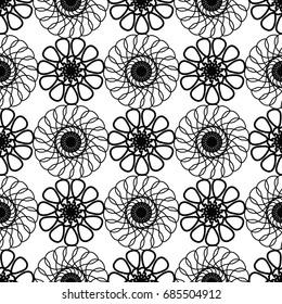 Ornamental seamless pattern. Geometric background.