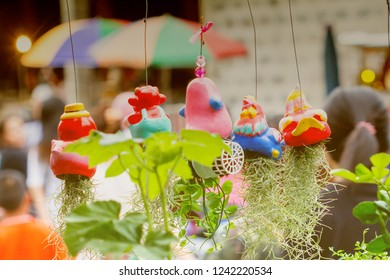ornamental trees, Hanging Doll Ornaments Souvenirs are made of plaster and ceramic.