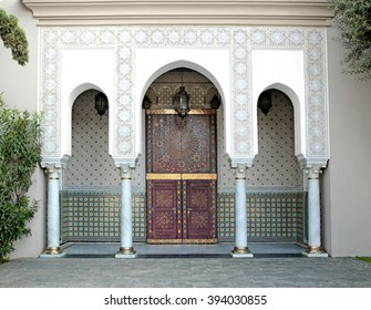 Ornamented door of a Mosque, Casablanca, Morocco