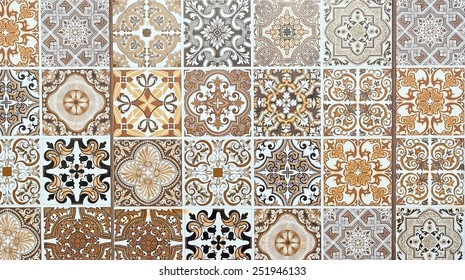 ornamented tiles texture background