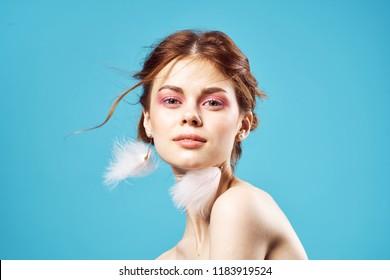 ornaments woman earrings beautiful makeup