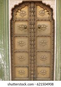 Ornate door in India
