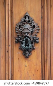 ornate door knocker, Florence, Italy