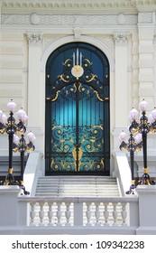 Ornate door of a mansion