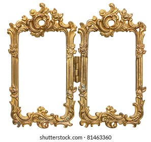 Ornate Double Frames with hinge