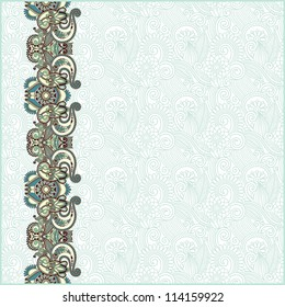 ornate floral background with ornament stripe. Raster version