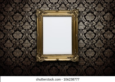 94bf1b5c278 Ornate Golden Frame Concrete Wall Clipping Stock Photo (Edit Now ...