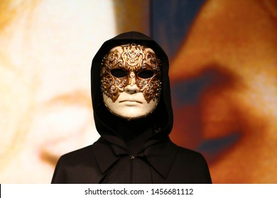 Ornate gold mask from the 1999 erotic mystery psychological drama film, Eye Wide Shut. Taken August 16, 2016 in San Francisco, CA.