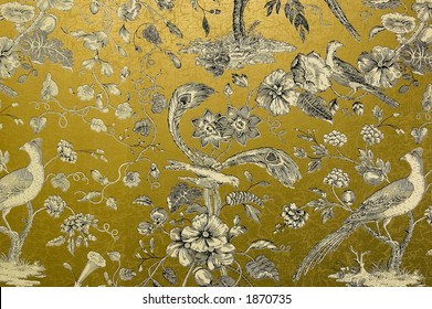 Ornate gold wallpaper