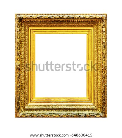 36640c05931 Ornate Gold Wood Frame Isolated On Stock Photo (Edit Now) 648600415 ...