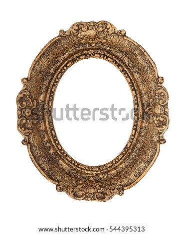 ornate golden baroque frame isolated on stock photo edit now