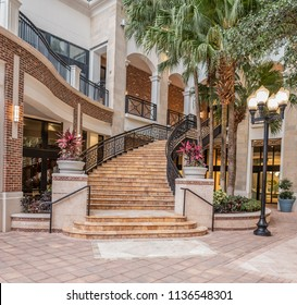 Ornate Outdoor Staircase In A Tropical Region