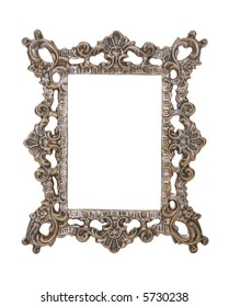 A ornate photo frame isolated over white