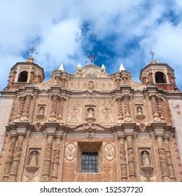 The ornate Santo Domingo Church, San Cristobal de las Casas, Chiapas, Mexico