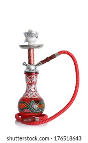 An ornate sheesha or hooka water pipe