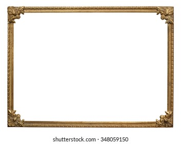 Ornate vintage metal photo frame