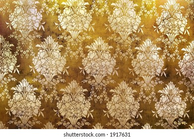 Ornate wallpaper