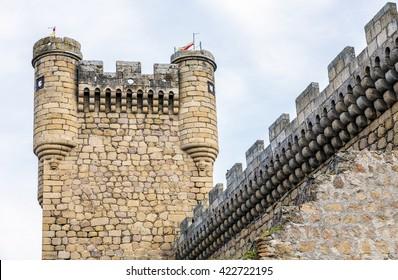 Oropesa Castle Turret in Toledo, Spain