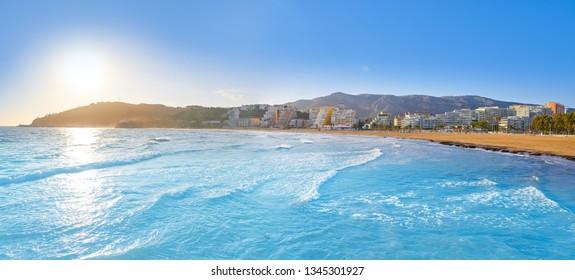Oropesa de Mar beach La Concha playa in Castellon of Spain