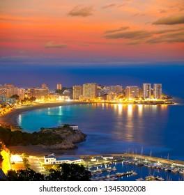 Oropesa de Mar beach La Concha sunset playa in Castellon Spain