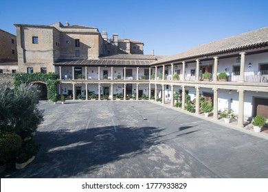Oropesa in Toledo province on October 26, 2019: The state run hotel in the Oropesa palace.