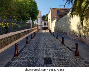 OROTAVA, SPAIN - AUGUST 20, 2019: view on the streets and buildings at the summer time