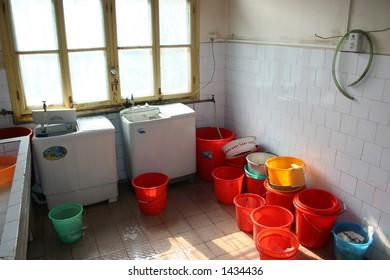 Orphanage laundry room, China