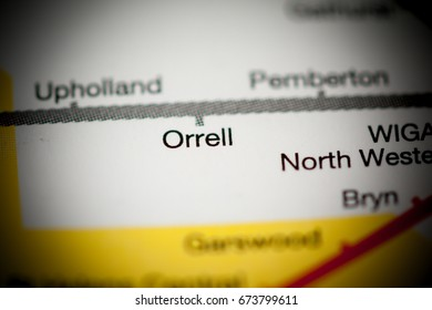 Orrell Station. Liverpool Metro map.