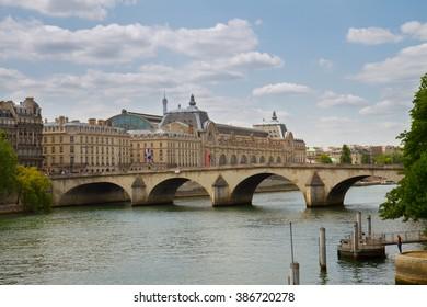 Orsay museum, pont Royal and river Siene, Paris, France
