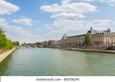 Orsay museum and river Siene, Paris, France