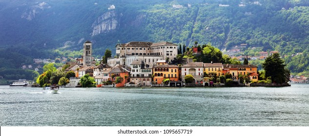 Orta San Giulio, famous resort on the western shore of Orta Lake, Italy, Europe