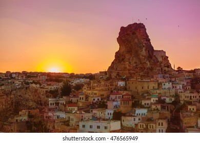 Ortahisar municipality in Cappadocia, an area in central Turkey famous for its unique landscape of volcanic origin