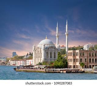 Ortakoy Mosque - Grand Imperial Mosque of Sultan Abdulmecidthe in Besiktas, Istanbul, Turkey