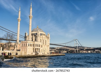 Ortakoy Mosque near Bosphorus in Istanbul, Turkey