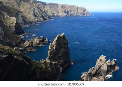Ortegal Cape, ,Tour of Spain, the Aguillóns, separating the Atlantic and Cantabrian oldest rocks in the world, amphibolites, Galicia,  Ortegal, Cariño, barnacles, Virgen del Carmen,