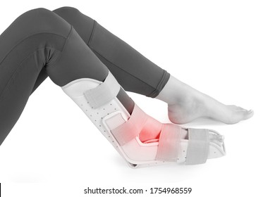 Ortho Plantar Fasciitis Adjustable Leg Support Brace Fits Right or Left Foot for Soreness Relief, Foot Pain and Stretching.