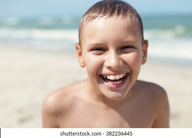 orthodontic braces child happy smile closeup portrait outdoor, selective focus
