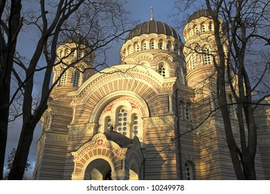 The Orthodox Cathedral In Riga, Latvia