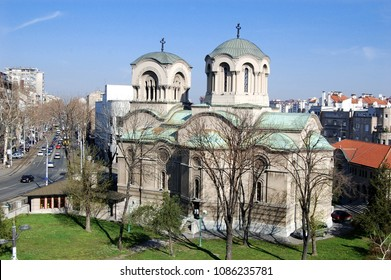Orthodox Church of Alexander Nevsky in the Center of Belgrade, Serbia.